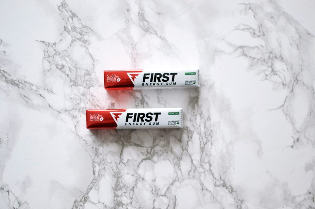 First Energy Gum rode verpakking