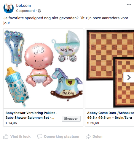 facebook retargeting advertentie
